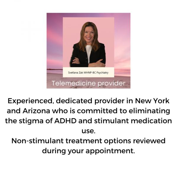Svetlana Zak ADHD specialist in NY and AZ